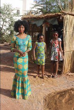 Les Peches Mignons. Dress wax ankara mali children