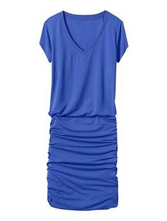 Topanga V-Neck Dress - Our favorite tee dress now in cap-sleeve length and super-soft, lightweight fabric.