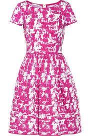 Oscar de la RentaPrinted stretch-cotton dress