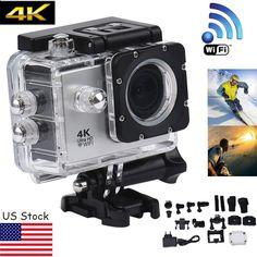 4K WIFI Waterproof Mini Action Cam HD DV Sports Camera Video Recorder Camcorder