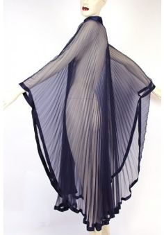 Sheer Accordion Pleated Caftan Gown. Lounge in affordable lingerie. Cuddle-up in prettiness.