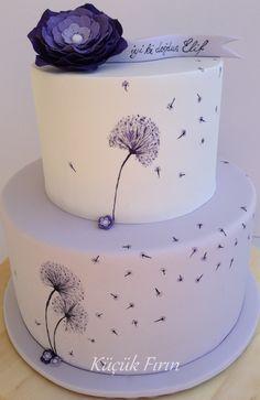 Dandelions Cake #lila-beyazlı pasta #Butik Pasat #Küçük Fırın