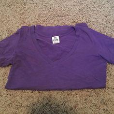 PINK v neck t shirt Victoria's Secret v neck t shirt. In good condition PINK Victoria's Secret Tops Tees - Short Sleeve