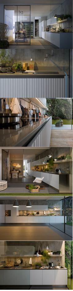 Cozinha integrada com área externa