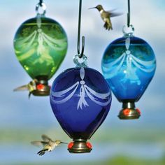 Hot Air Balloon shape with bunting design. Non-acid etched, includes our Dripless Gondola. Holds up to 50 oz of hummingbird nectar, may be filled with less. Measures Individually boxed with instructions on hangtag. Hummingbird Nectar, Glass Hummingbird Feeders, Humming Bird Feeders, Hummingbird Food, Hummingbird Garden, Bunting Design, Balloon Shapes, Backyard Birds, Recycled Glass