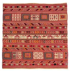 Africa | Gafsa Dowry Tapestry from the Berber Peoples, Gafsa Oasis, Tunisia | 19th Century | Wool, tapestry weave, natural dyes