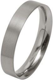 Ti2 Low Profile 4mm Flat Titanium Ring