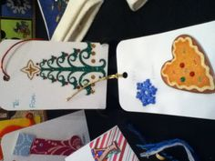 Gift tags I made for crafts fair for Christmas at McLeans mill