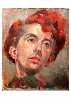 Self-portrait, 1930's by Quentin Crisp (1908-1999). For that flame hair - never liked his style, but always admire those who tread their own path...