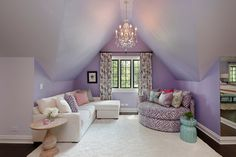 bedroom sitting area- love this space & the color! by 2 Design Group. [Houzz]