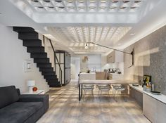 Perforated solid steel plates bring in light, transforming a London terrace house into a work of art.