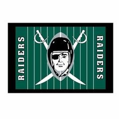 "Oakland Raiders 1960 Photo Art MagnetProduct ID: 605911030000  Regular price: $3.99  Sale price: $2.00    Add these fun magnets to your locker or frig! The Oakland Raiders 1960 Photo Art Magnet measures 2"" x 3"" and features the Raiders 1960 logo on a field background."