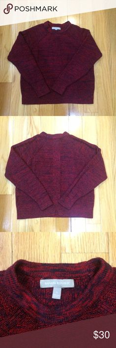 Banana Republic Sweater Banana Republic Sweater Navy Red. An awesome layering piece for the fall! Sits directly at hip. Banana Republic Sweaters Crew & Scoop Necks