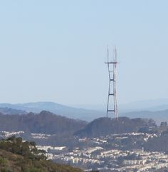 Sutro from San Bruno Mt. San Bruno, Bay Area, Wind Turbine, Tower, California, Spaces, Usa, Computer Case, Towers