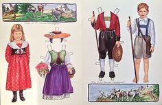 Heidi-and-Peter-Paper-Doll-By-Sandra-Vanderpool-1997-Doll-Mag-Color-Plate