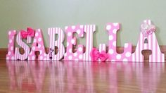Pretty in Pink Minnie Mouse Letters Minnie mouse by MAAADesigns