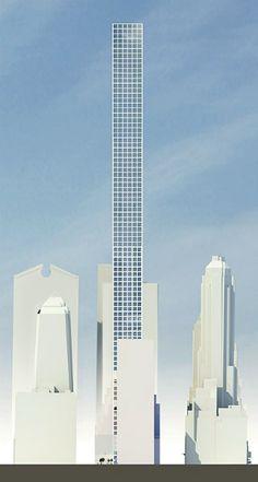 Uruguayo Rafael Viñoly proyectará el rascacielos más alto de Nueva York Futuristic Architecture, Architecture Design, New York City Buildings, Office Buildings, 432 Park Avenue, Famous Architects, High Rise Building, Condominium, Skyscrapers