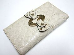 Ivory Guess Wallet Checkbook Billfold by sweetie2sweetie on Etsy, $12.99