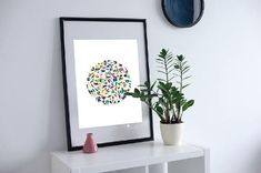 Abstract Colourful Rainbow Art Wall Print
