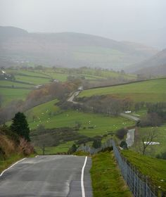 Lane towards Machynlleth by where paths meet, via Flickr