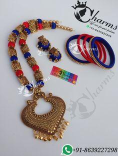 Silk thread jewelry Thread Jewellery, Beaded Jewelry, Silk Bangles, Silk Thread, Charmed, Beads, Unique, Bracelets, Blouses