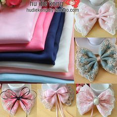 22 * 50 cm of solid color chiffon fabric DIY hair accessories cloth art bowknot hairpin parts manual accessories material