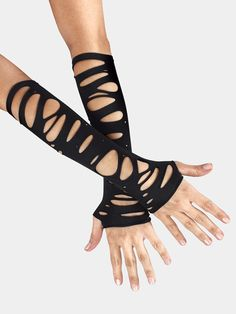 Adult Elbow Length Spliced Gloves All About Dance Mobile Emo Outfits, Dance Outfits, Cute Outfits, Gothic Fashion, Diy Fashion, Fashion Outfits, Rock Fashion, Lolita Fashion, Steampunk Gloves