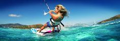Learn to kite board while staying on My Love. Great exercise!