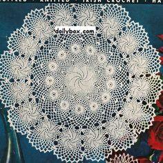 Free crochet Patter Rose of Erin doilybox.com
