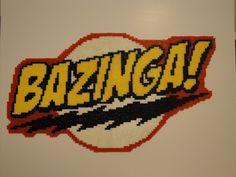 Bazinga! The Big Bang Theory Perler Bead Sprite by Nicolel12 on deviantART