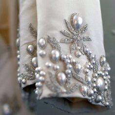 Элементы вышивки канителью #канитель#серебро#вышивкаканителью#этомодно#красота