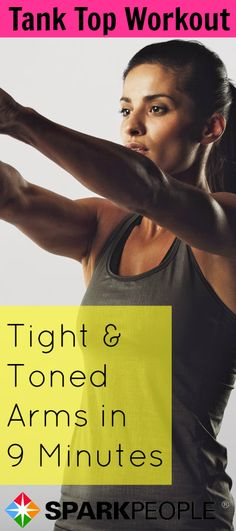 Are your arms ready for spring? This 9-Minute Arm Workout with Dumbbells will help get you tank top ready! | via @SparkPeople #fitness #exercise #video #tricep #shoulder