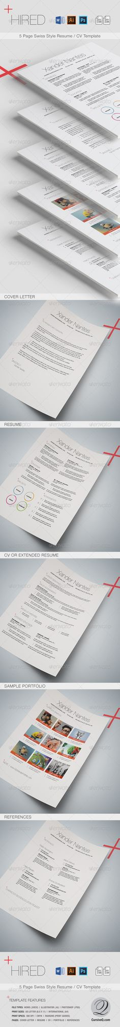 Clean ResumeCv Template Download HttpGraphicriverNetItem
