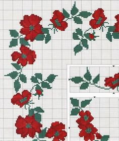 Tablecloth Curtains, Cross Stitch Gallery, Cross Stitch Pillow, Cross Stitch Art, Cross Stitch Borders, Counted Cross Stitch Patterns, Cross Stitch Flowers, Cross Stitch Designs, Cross Stitch Embroidery