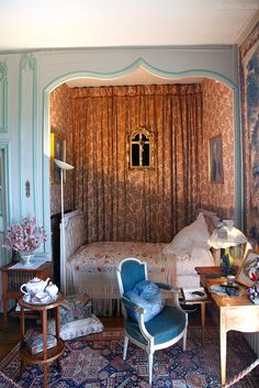 George Sand's bedroom in France.