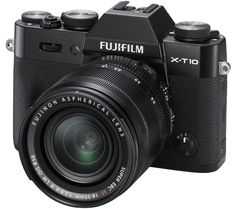FUJIFILM X-T10 Compact System Camera with XF 18-55 mm f/2.8-4.0 LM OIS Zoom Lens - Black