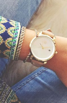 Rose Gold Pearl x MVMT Watches click image to purchase
