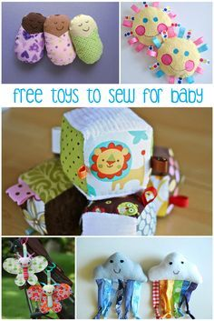 Free toys to sew for baby - I want to make Dylan one of the little babies on the top left.
