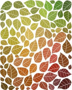 Falling Leaves Art Print Inspired By Autumn Colors And Trees In Fall. $18.00, via Etsy.