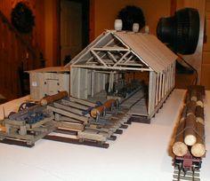 Railroad Line Forums - Barrys Saw Mill Ho Scale Train Layout, Model Train Layouts, Escala Ho, Trains For Sale, Ho Model Trains, N Scale Trains, Medieval Houses, Hobby Trains, Models