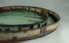and platters - stoneware, cone 11 - olia lamar Ceramic Plates, Ceramic Pottery, Pottery Art, Ceramic Art, Pottery Ideas, Earthenware, Stoneware, Food Photography Props, Color Glaze