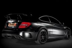 Black makes everything look good. In this case, DAMN good!  Mercedes Benz C63 AMG Dark Side