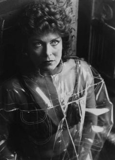 Zhora in Blade Runner - played by the lovely Joanna Cassidy. where oh where can I get a rain coat like that?