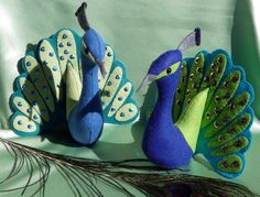 felt crafts to sell | How to make a felt Peacock | Felt