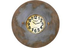 Antoine Wall Clock on OneKingsLane.com  $139.00  $280.00 Retail    With a striking, wide frame made of recycled metal and charming, petite fleur-de-lis accents, this wall clock has unique industrial charm.