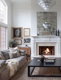 Home Interior Layout Meet Durable Neutral Texture Home Living Room, Living Room Designs, Living Spaces, Living Room Fireplace, Natural Living Rooms, Living Room With Rug, Large Living Rooms, Living Room Neutral, Living Room Tables