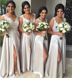 long+bridesmaid+Dresses,+slit+bridesmaid+dress,+lace+bridesmaid+dress,+light+gray+bridesmaid+dress Description+of+the+long+bridesmaid+dress: For+Material:+ chiffon,+lace,+pongee. For+Colors: You+can+choose+any+color+you+like+from+our+color+chart. If+you+can't+make+sure+the+color+,+you...