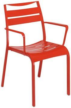 Produkt-Detailansicht von GO IN Haley Stuhl 0200 - Stuhl: Aluminium, pulverbeschichtet, rot