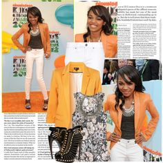 Look inspired by China Anne Mcclain at Kids choice awards by hannahrox313