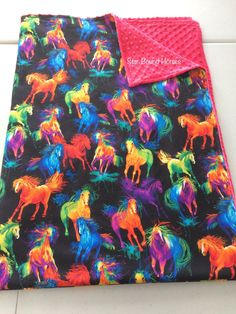 Minky Adult Throw Blanket, Horse throw blanket, Western Blanket, Equestrian blanket, Kids blanket, Horse Couch Blanket, Horse Lover Gift Kids Blankets, Throw Blankets, Couch Blanket, Jealous Of You, Gifts For Horse Lovers, Horse Print, Printed Cotton, Cuddling, Equestrian